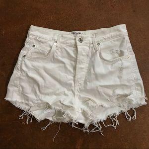 AGOLDE white shorts size 26